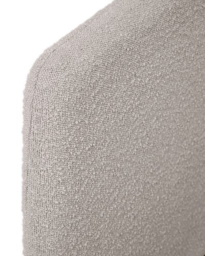 Dyla bed cover in light grey fleece 160 x 200 cm