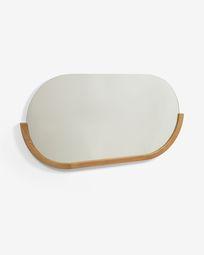 Rokia solid teak mirror 90 x 55 cm