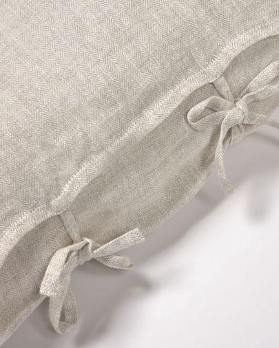 Capa almofada Tazu 100% linho bege 45 x 45 cm