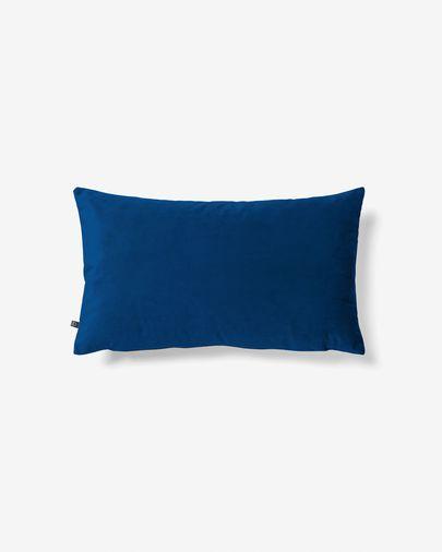 Kussenhoes Lita 30 x 50 cm blauw fluweel