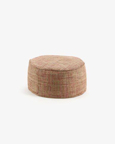 Round pink Boho pouf Ø 60 cm