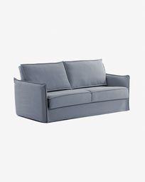 Slaapbank Samsa 140 cm polyurethaan blauw