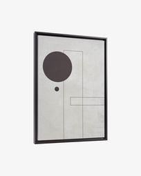 Myrthe grijs afbeelding 50 x 70 cm