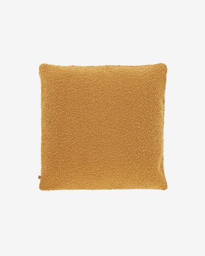 Housse de coussin Vicki moutarde 45 x 45 cm