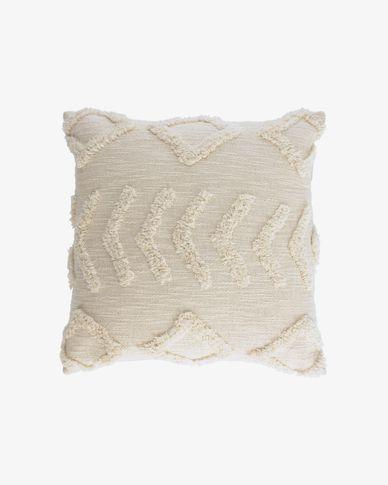 Housse de coussin Xayoxhira 45 x 45 cm beige