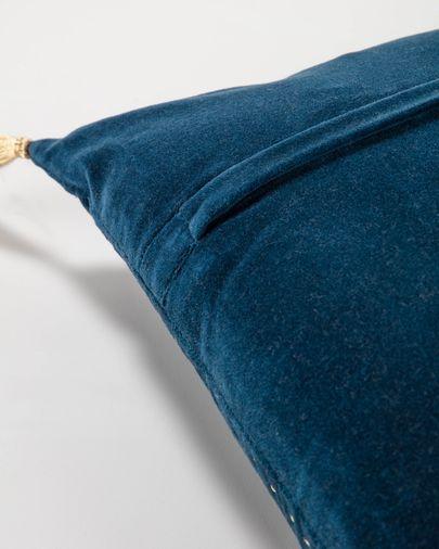 Funda coixí Berenice 45 x 45 cm vellut blau