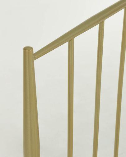 Cabecero Natacha de metal con acabado dorado 98 x 110 cm