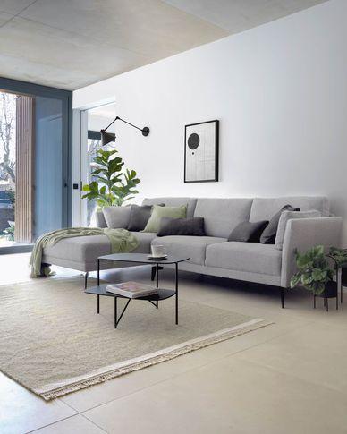 Tappeto Nam 160 x 230 cm grigio