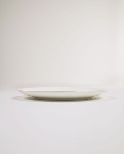 Plato plano Taisia de porcelana blanco