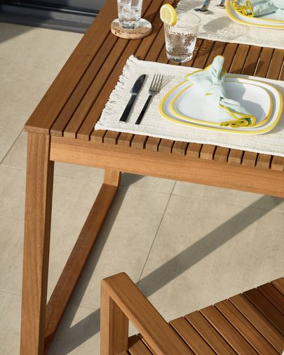 Emili solid acacia garden table, 190 x 90 cm FSC 100%