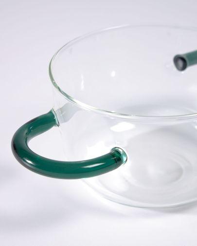 Bol Dusnela vidrio transparente y turquesa