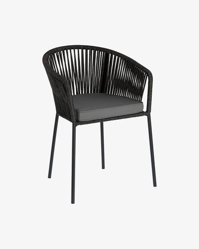 Yanet cord chair in black