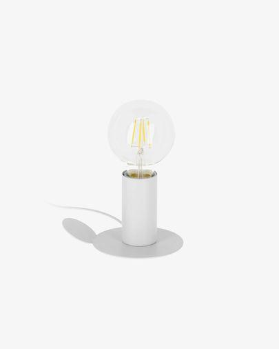 Lámpara de mesa o aplique Danitz de acero con acabado blanco