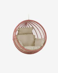 Elianis hanging chair with terracotta rope