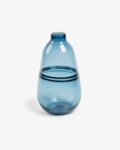 Jarrón Jordan cristal azul 28,5 cm