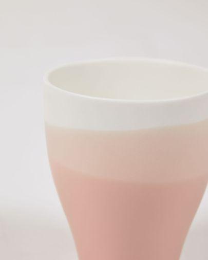 Beker Sayuri van porselein in roze en wit