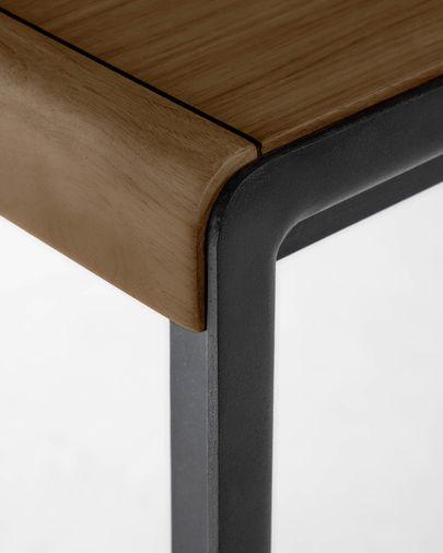 Taula extensible Nadyria xapa de noguera potes d'acer acabat negre 160 (200) x 90 cm2