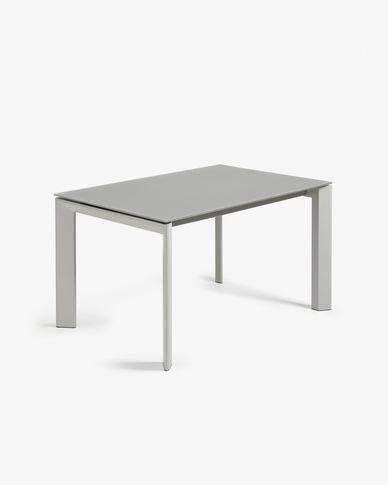Tavolo allungabile Axis 140 (200) cm cristallo grigio gambe grigio