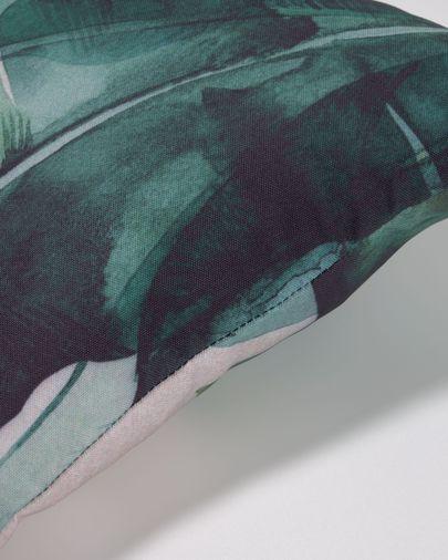 Poszewka na poduszkę Hermie liście zielona 30 x 50 cm