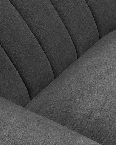 Dark grey Obo armchair