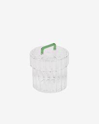 Pot Gretel van transparant en groen glas