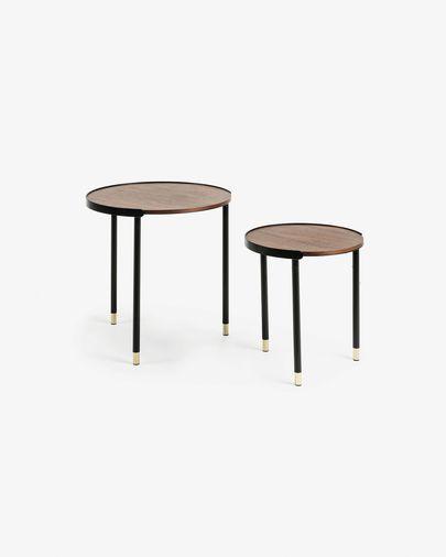 Set Anabel di 2 tavolini Ø 50 / Ø 38 cm