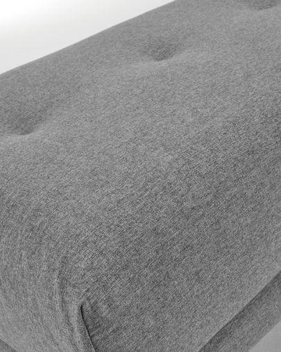 Voetenbankje Sahira 80 x 60 cm grijs