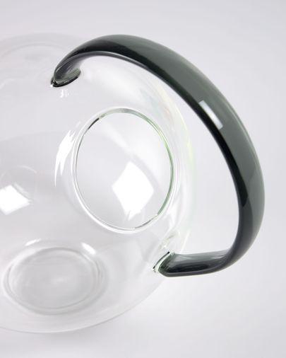 Vase Duyen en verre transparent et gris