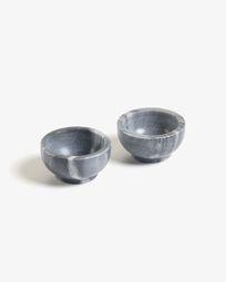 Set de 2 bols Callhan marbre gris foncé