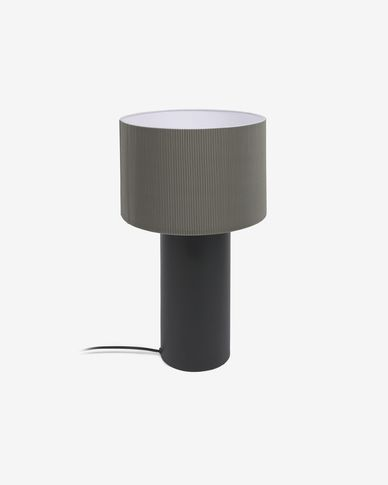 Domicina metal table lamp with black and grey finish