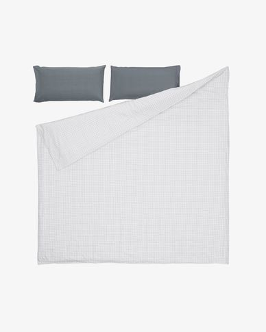 Lesly bedding set duvet cover, fitted sheet, pillowcase 145x190 cm organic cotton (GOTS)