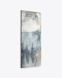 Urbelina canvas in blue and white 50 x 120 cm