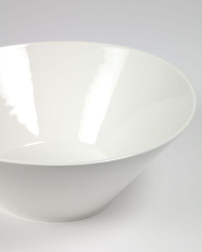 Grote, ovalen porseleinen kom Pierina wit