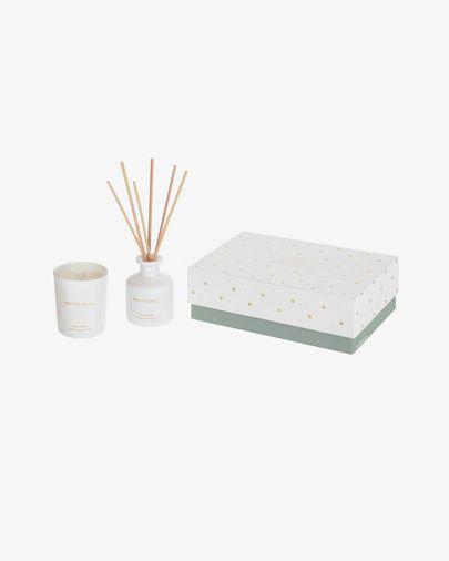 Set White Soul d'ambientador en estics 50 ml i espelma aromàtica 70 gr