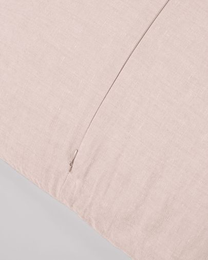 Eirenne cotton and linen cushion cover in pink 45 x 45 cm