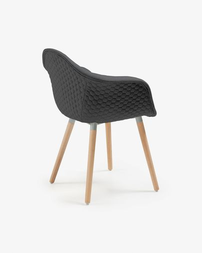 Cadira Kevya gris fosc