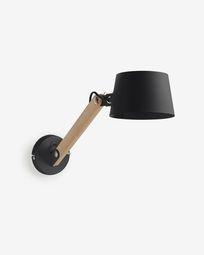 Muse black wall lamp