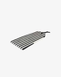Bergman rechthoekige snijplank zwart wit marmer boog