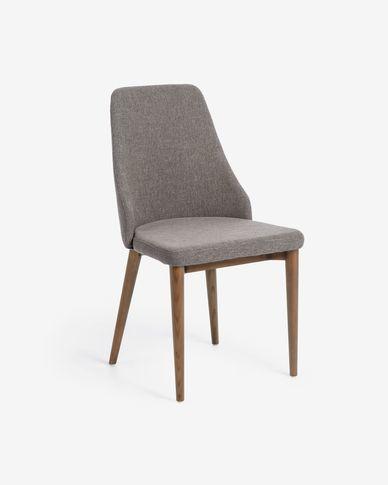 Cadira Rosie gris clar acabat fosc