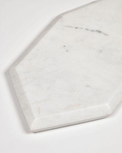 Tabla de servir Claria en forma de heptágono de mármol blanco