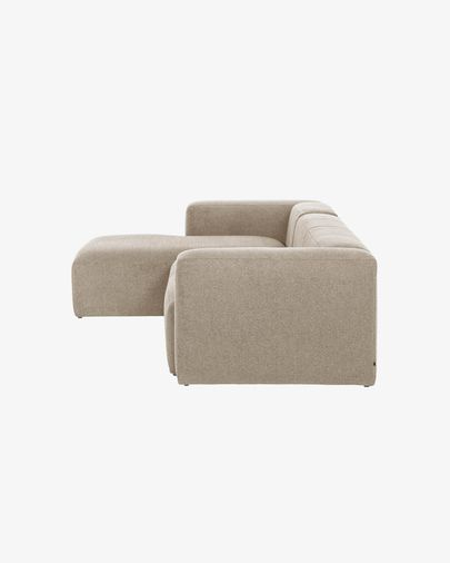 Sofá Blok chaise longue esquerdo de 3 lugares bege 330 cm