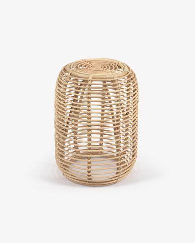 Mesa de apoio redonda Kohana de ratã com acabamento natural Ø 46 cm