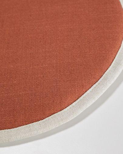 Almofada para cadeira redonda Prisca terracota Ø 35 cm