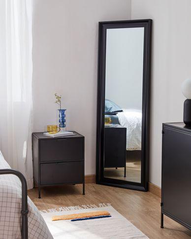 Romila zwart spiegel 52 x 152,5 cm
