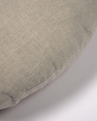 Capa almofada redonda Tamanne 100% linho bege Ø 45 cm