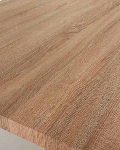 Taula Argo 200 cm melamina natural potes efecte fusta