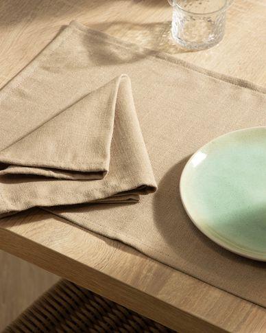 Set Samay van 4 servetten beige