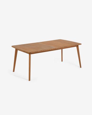 Hanzel extendable garden table in solid eucalyptus, 183 (240) x 100 cm FSC 100%