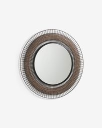 Espejo Rob de acero Ø 90 cm