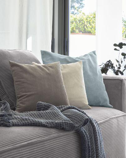 Manta Shallow 100% algodón gris 130 x 170 cm